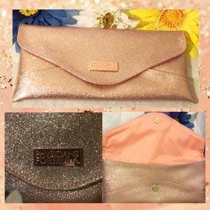 Golden Peach Glittery Handheld Glam Clutch/Purse